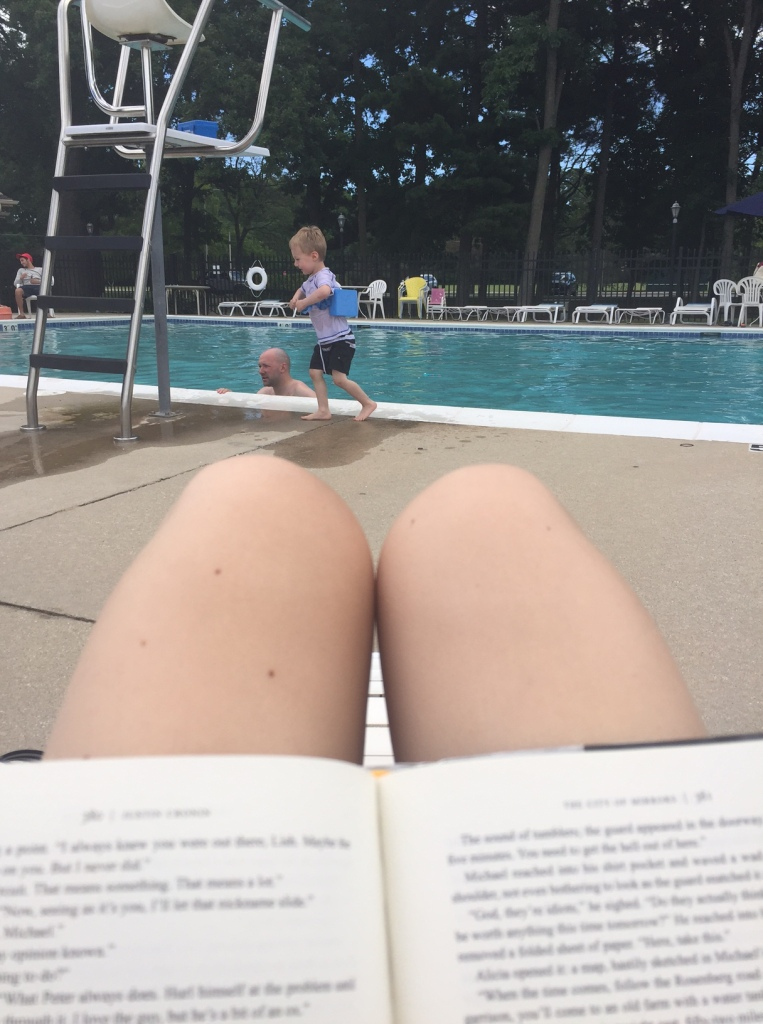 Chill holiday weekend for us. Went to the pool twice and read while Jackson and Jake got in some good swim time.